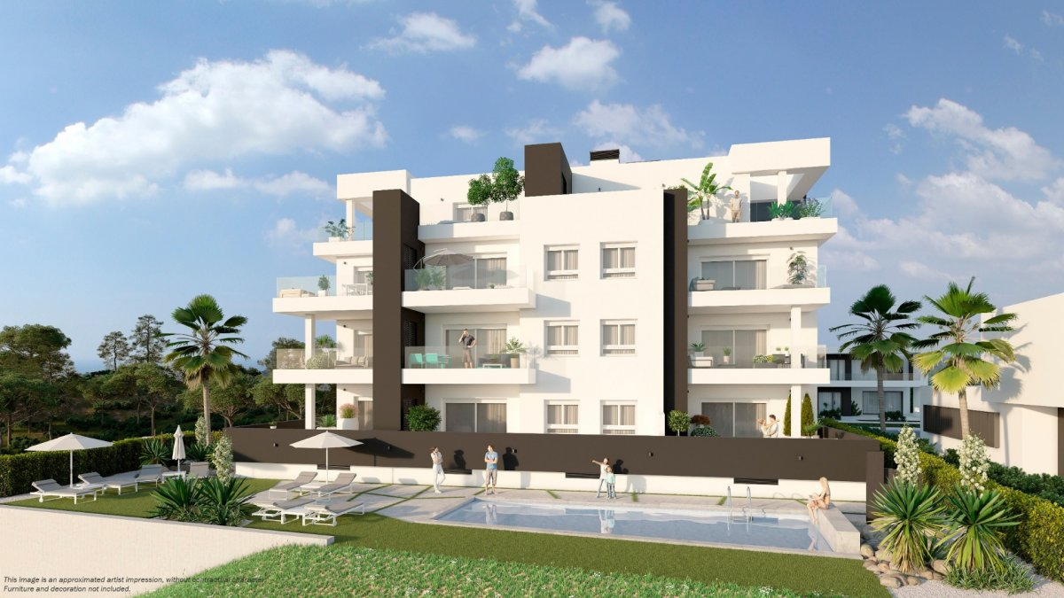 Modern New Construction Residential Composed of Apartments in Orihuela Costa