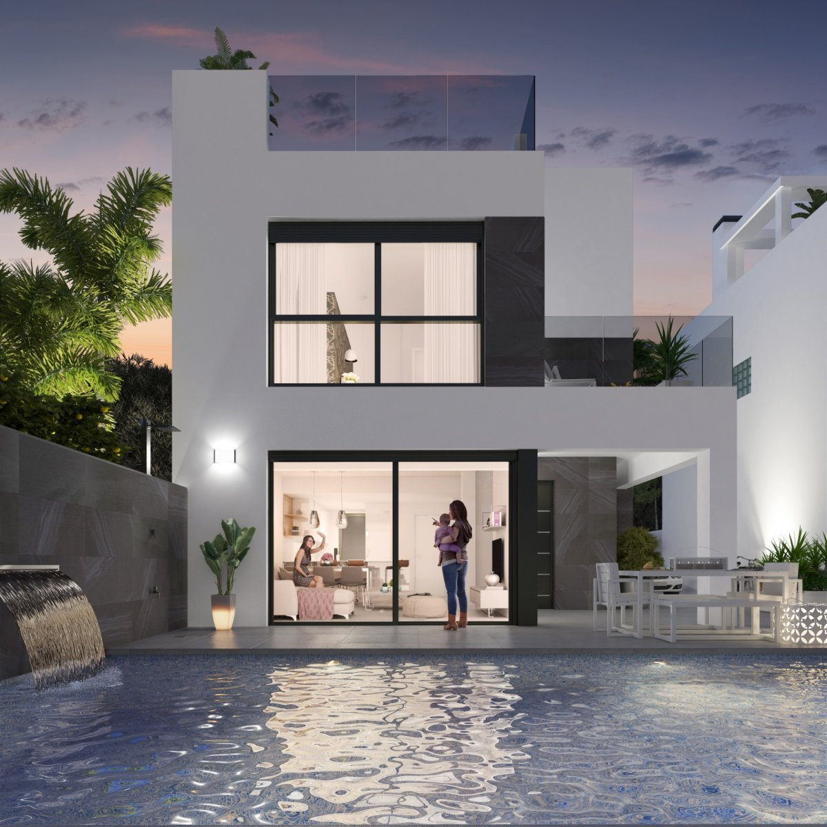 Beautiful New Build Detached Villas with Private Pool in Torrevieja