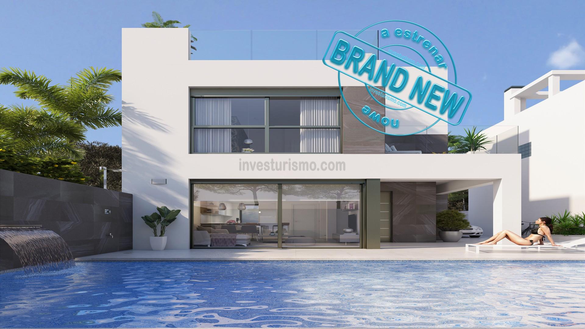 New Build 4 bedrooms detached villas in Punta Prima – Orihuela