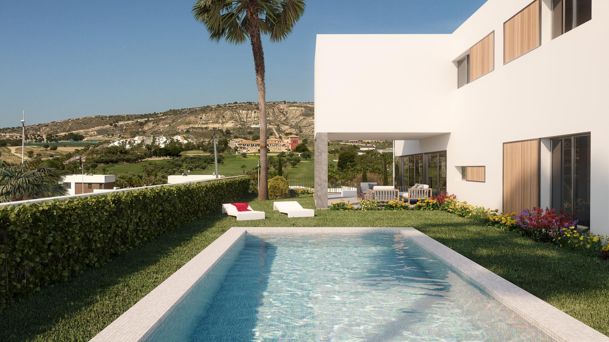 New Build villas 4 bedrooms 3 bathrooms in Algorfa