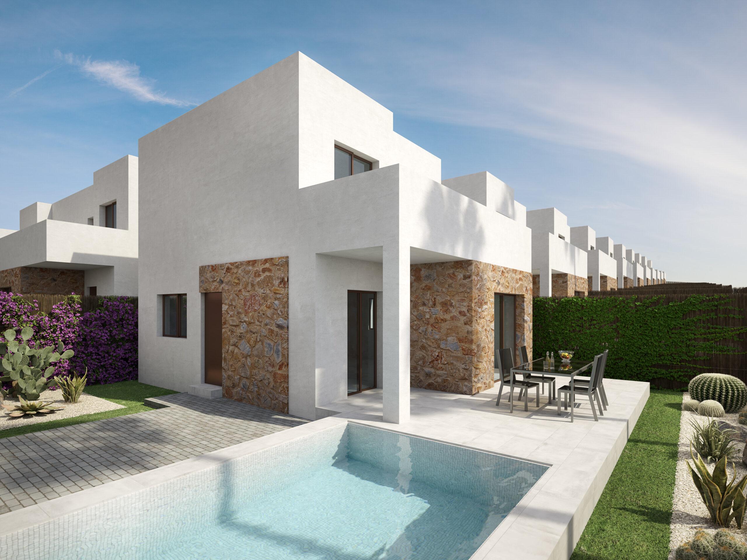 New build Villas 2-3 bedrooms 2 bathrooms in Orihuela Costa