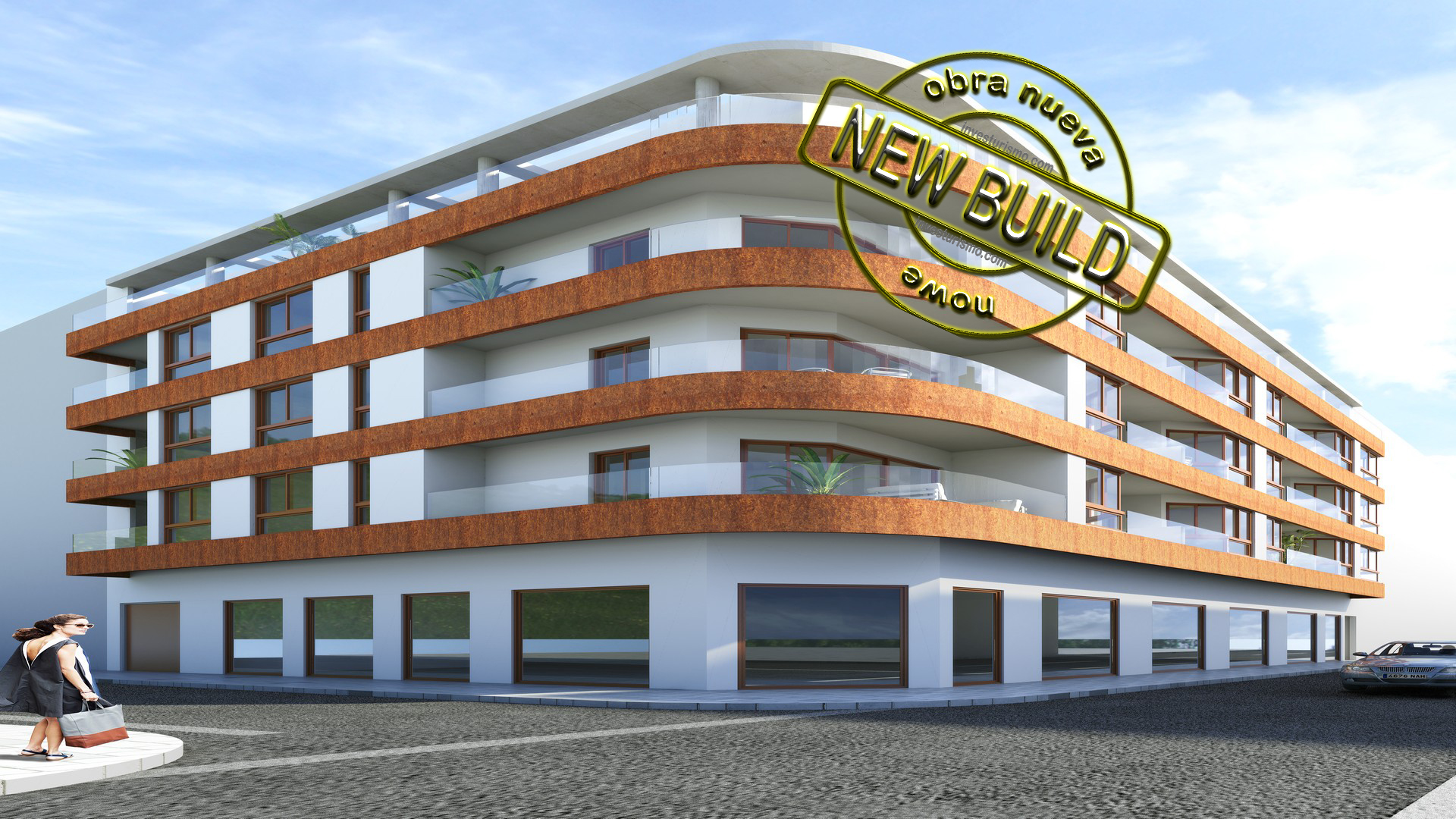 New build apartments near the beach 2 bedrooms in Torrevieja