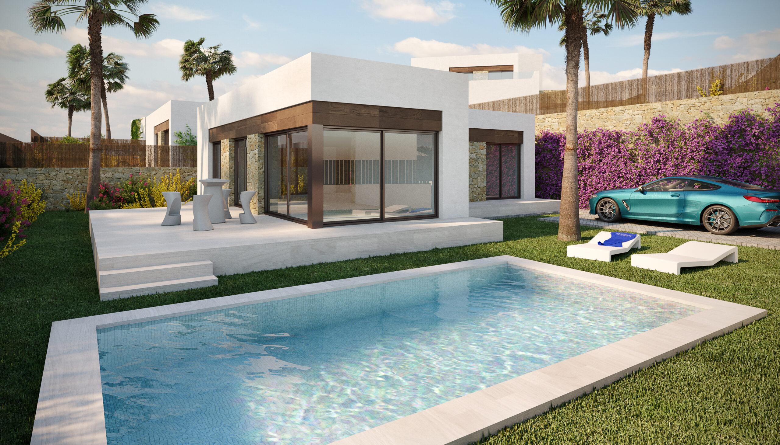 New Build Villas 3 bedrooms 2 bathrooms in Orihuela