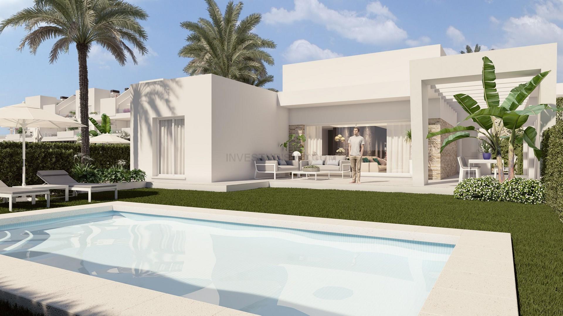 New build detached villas 3 bedrooms in Algorfa