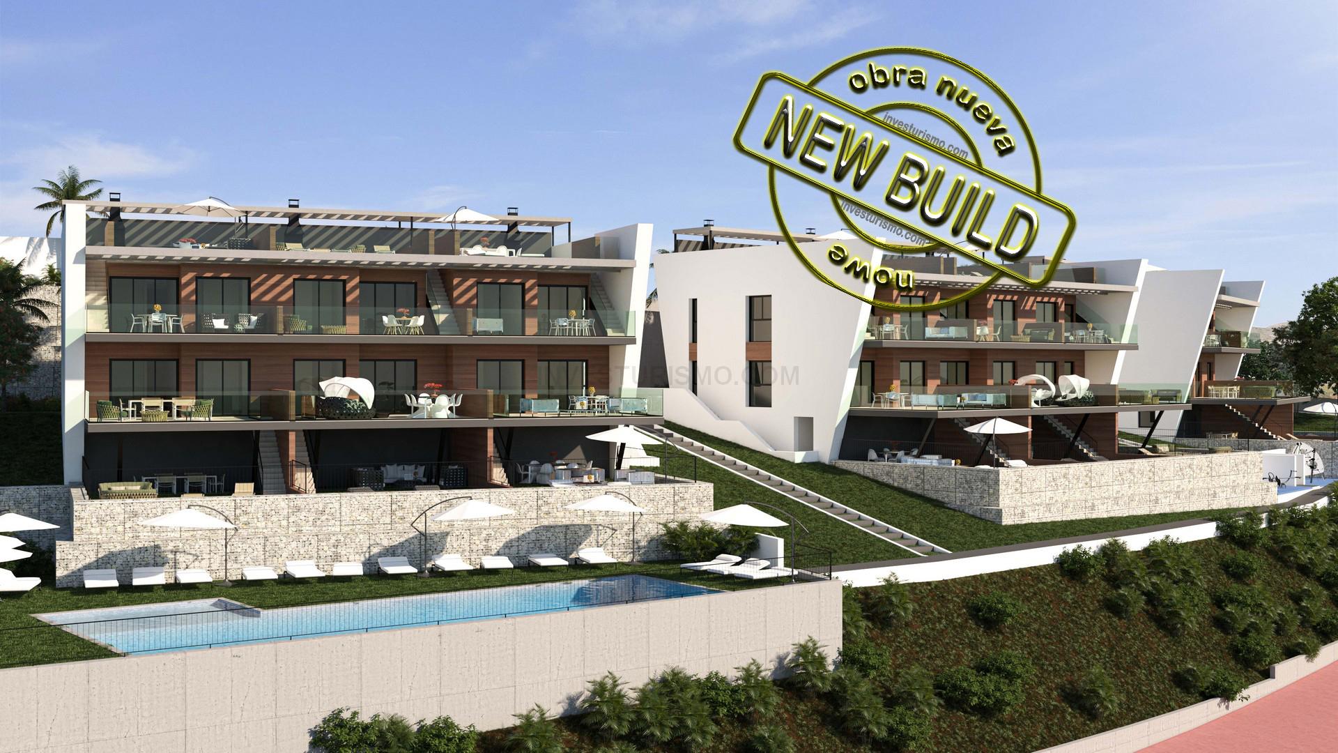 New Build bungalows 2 bedrooms in Finestrat