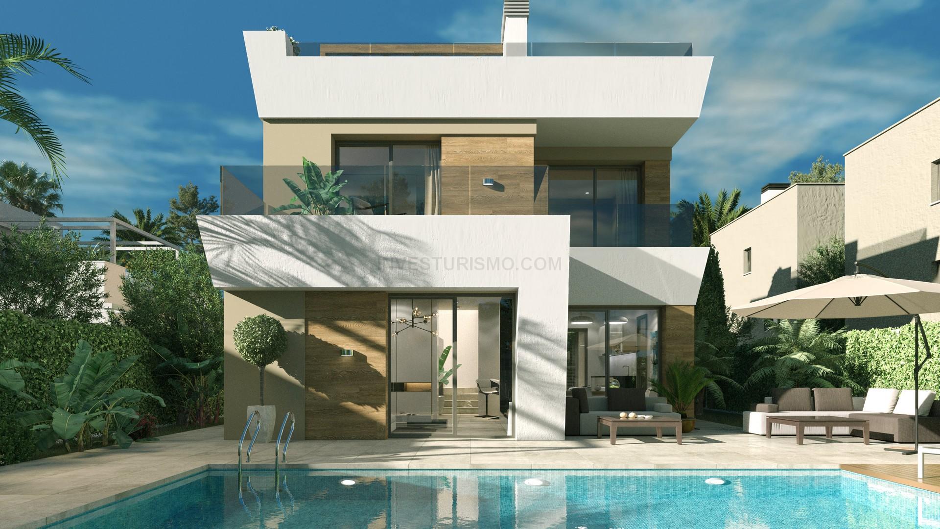 New Build Villa 3 bedrooms 3 bathrooms in Torrevieja