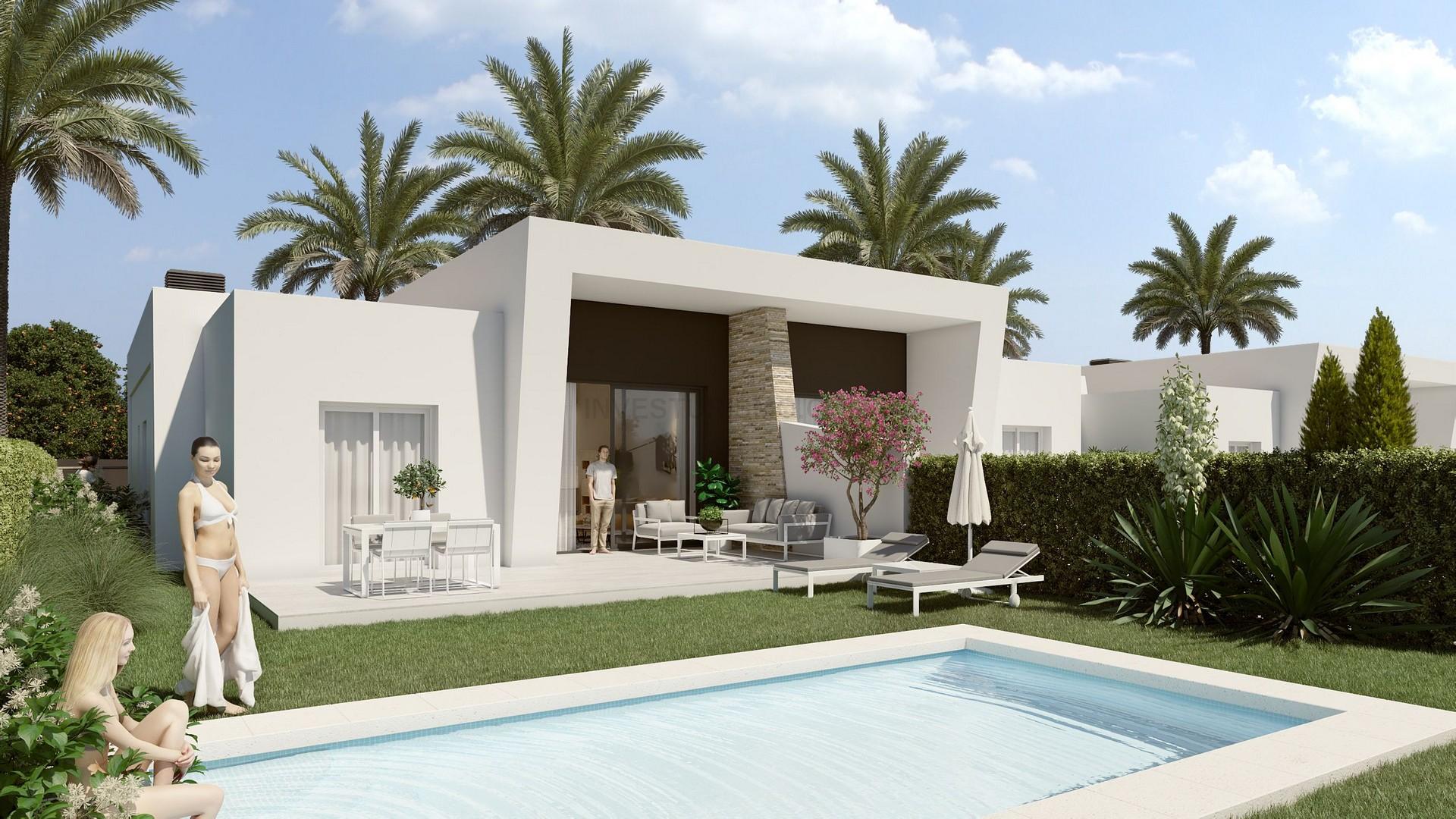 New Build Semi-detached Villas 3 bedrooms in Algorfa